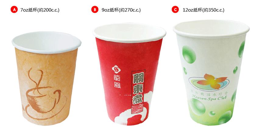 統規:紙杯(容量)